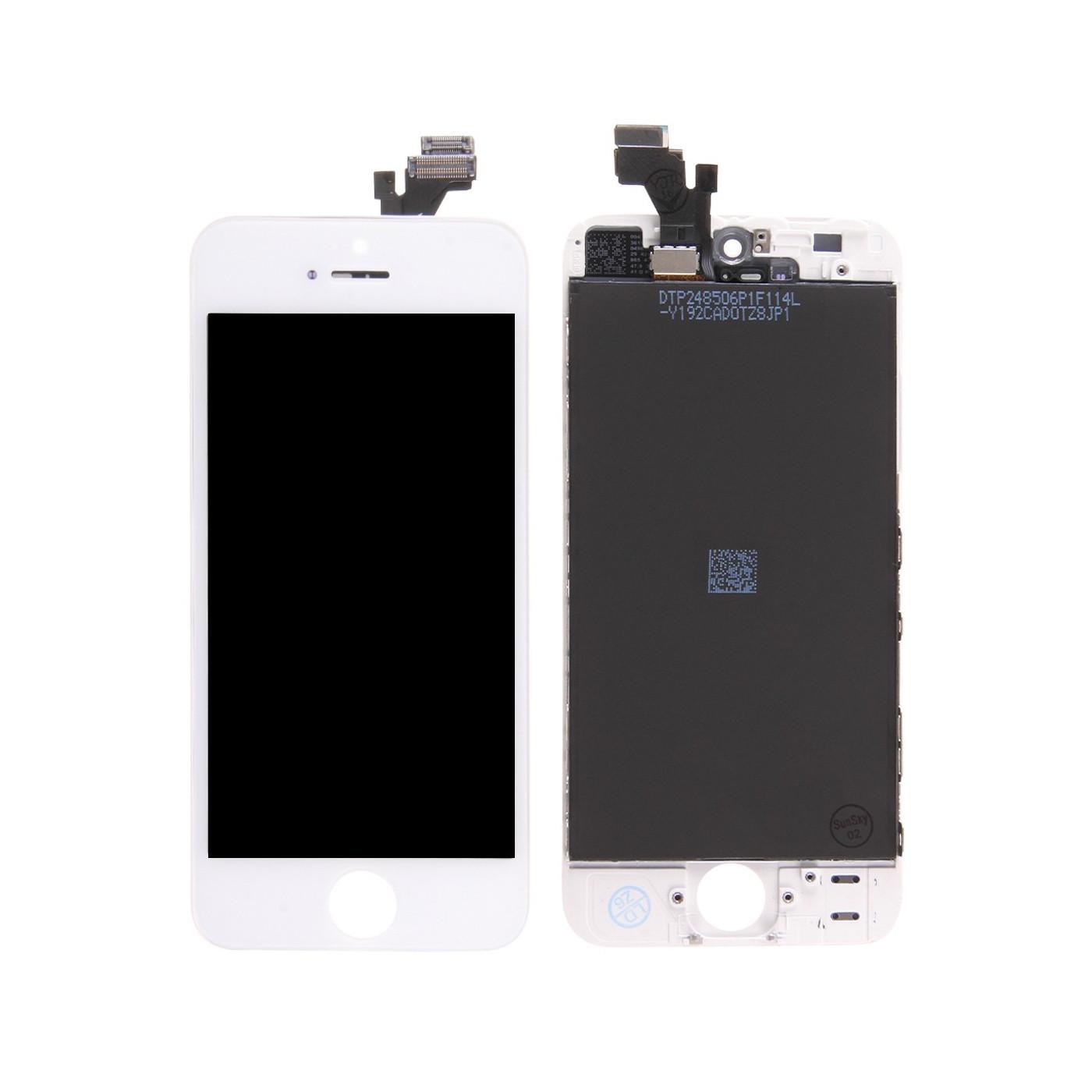 AFFICHEUR LCD TACTILE VERRE pour Apple iPhone 5 ECRAN ORIGINAL TIANMA BLANC