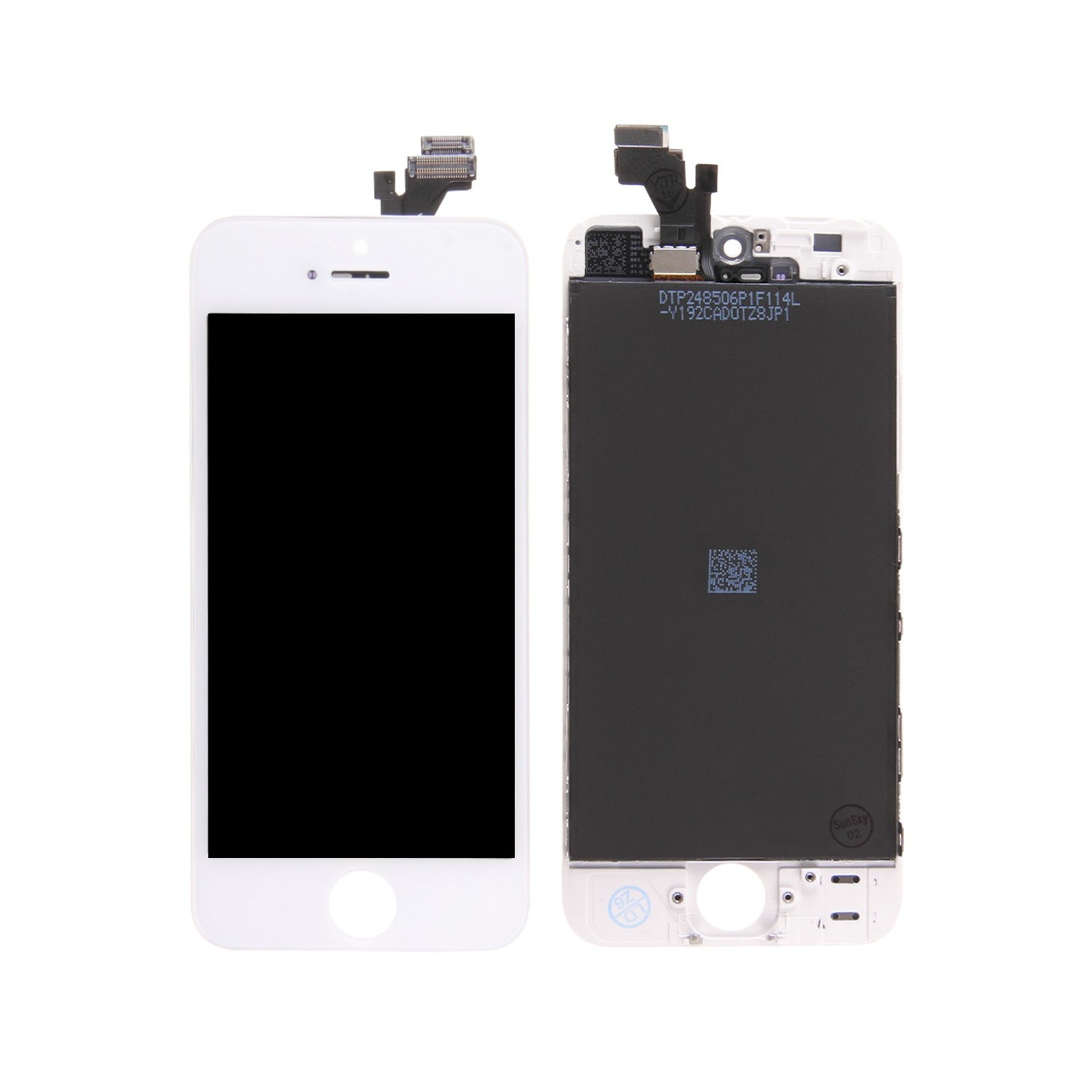 Touch screen + lcd display + frame per apple iphone 5 bianco vetro schermo