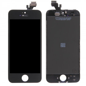 Pantalla táctil + pantalla LCD + marco para apple iphone 5 pantalla de cristal negro