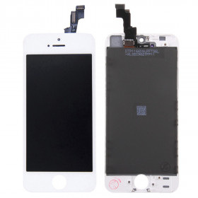 Touch screen + lcd display + frame per apple iphone 5s bianco vetro schermo