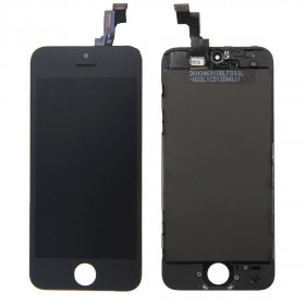 Touch screen + lcd + retina display frame for apple iphone 5s black glass screen