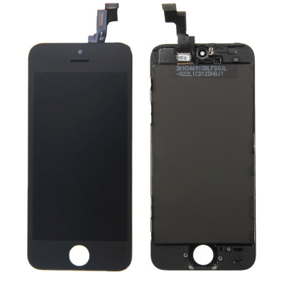 Display Lcd + Touch Screen+ Frame Per Apple Iphone 5S Nero Originale Tianma