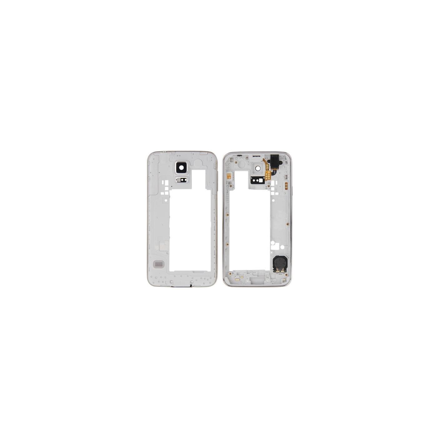 Frame cornice posteriore per Galaxy S5 - G900 con jack altoparlante tasto power
