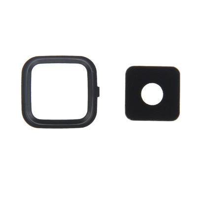 Lente Fotocamera Camera Lens + Frame Per Samsung Note 4 N910 Nero