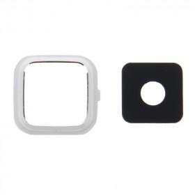 Lente de la cámara Lente de la cámara + Marco blanco Samsung Note 4 N910 cover