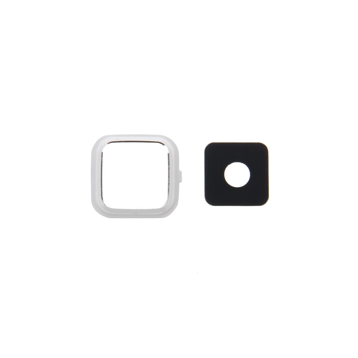 Lente fotocamera Camera Lens + Frame bianco cover Samsung Note 4 N910