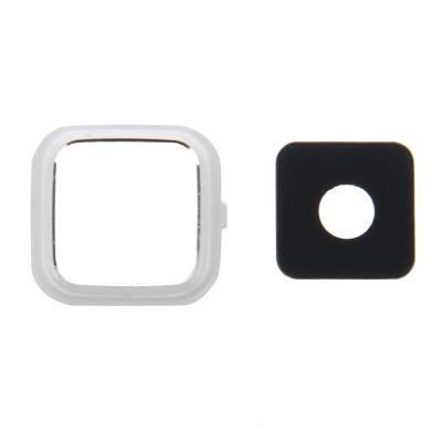 Lente Fotocamera Camera Lens + Frame Bianco Per Samsung Note 4 N910