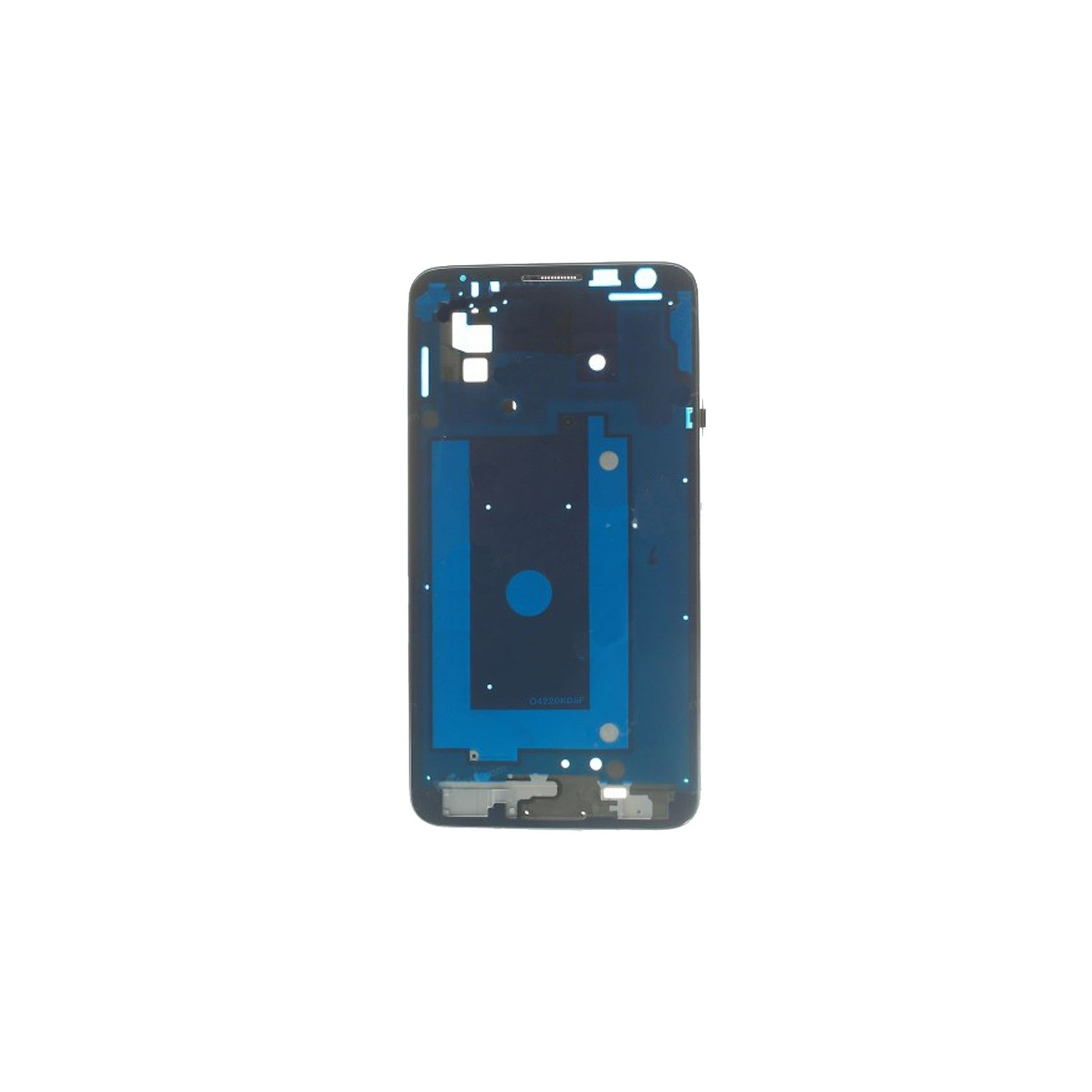Cadre Cadre Coque Samsung Galaxy Note 3 Neo N7505 Cadre Cadre Argent