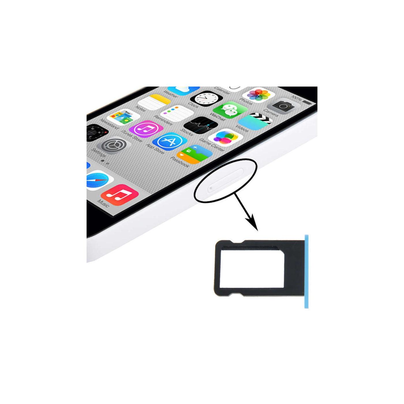 SIM Kartenhalter Apple iPhone 5C blaue Schlitze schieben Warenkorb Fach Ersatz