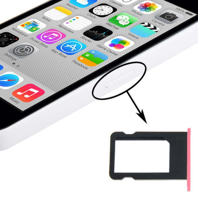 Porta Scheda Sim Per Iphone 5C Pink Slot Slitta Carrello Vassoio Ricambio