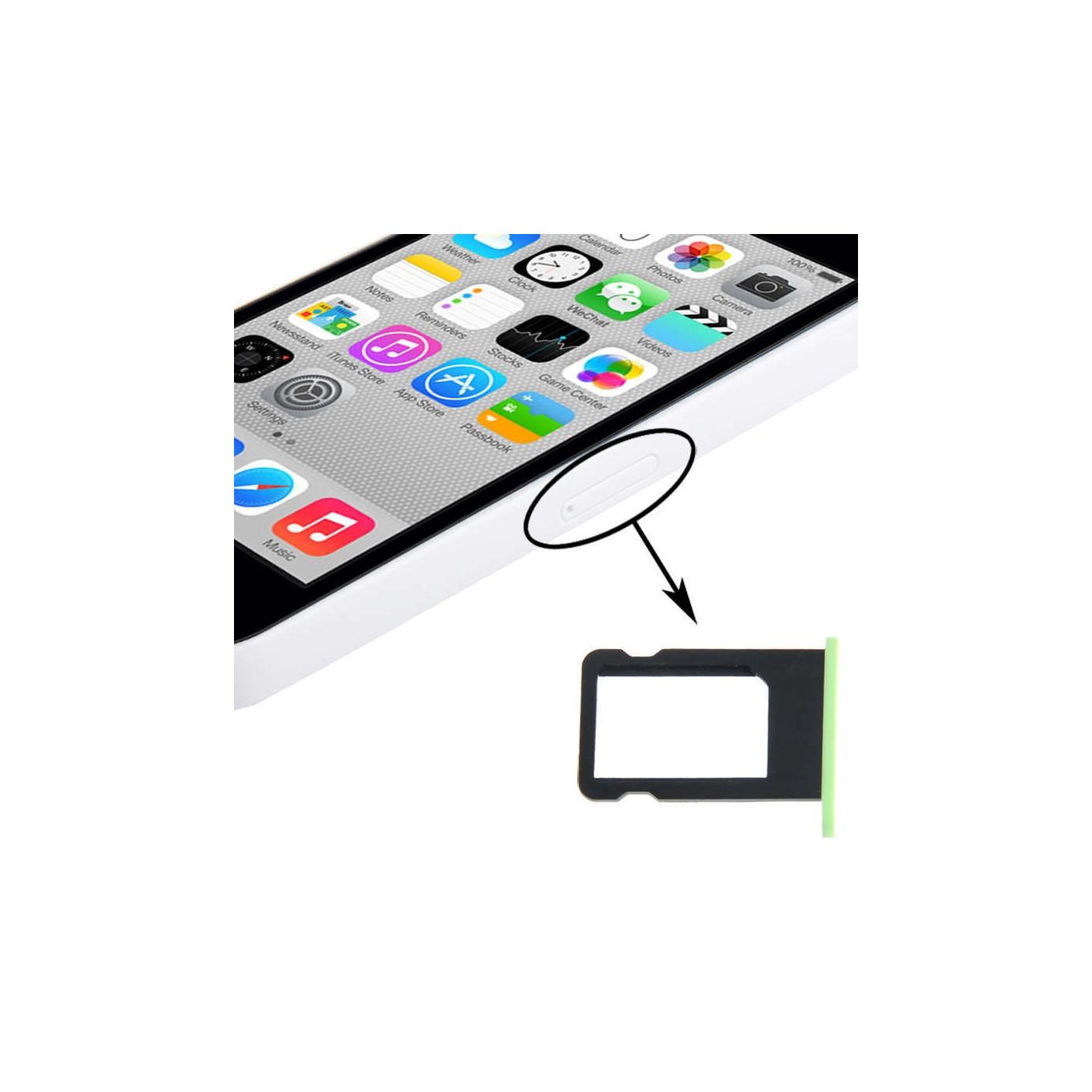 SIM Kartenhalter Apple iPhone 5C grün Slot Schlitten Cart Fach Ersatz