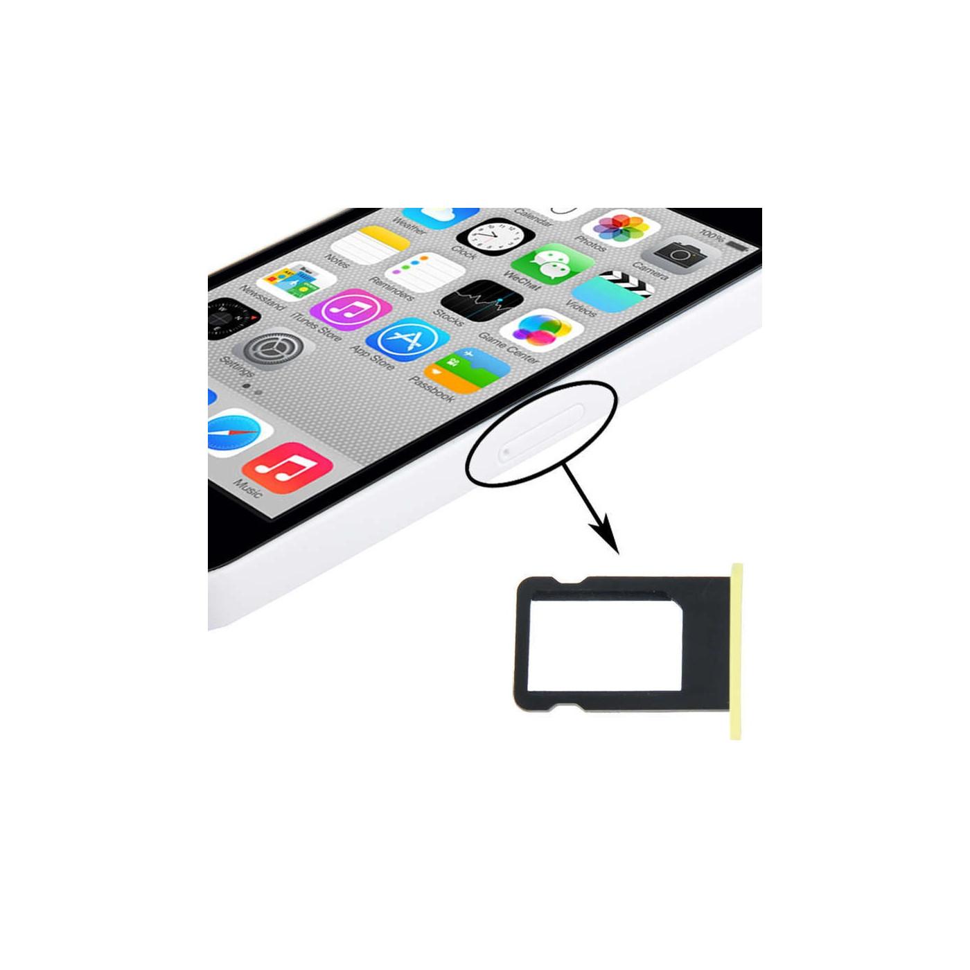 porta sim scheda apple iphone 5c giallo slot slitta carrello vassoio ricambio