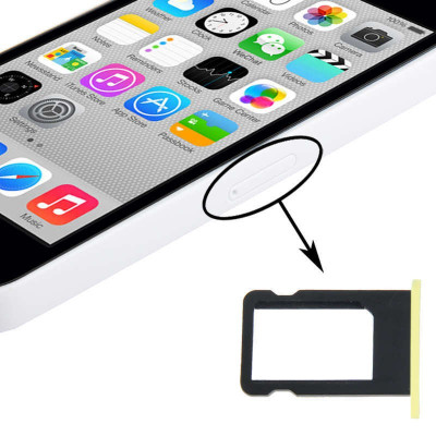 SIM Kartenhalter Apple iPhone 5C gelbe Steckplätze Slot Cart Fach Ersatz