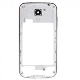 Frame cornice posteriore telaio Samsung S4 mini i9195 / i9190 bordo silver