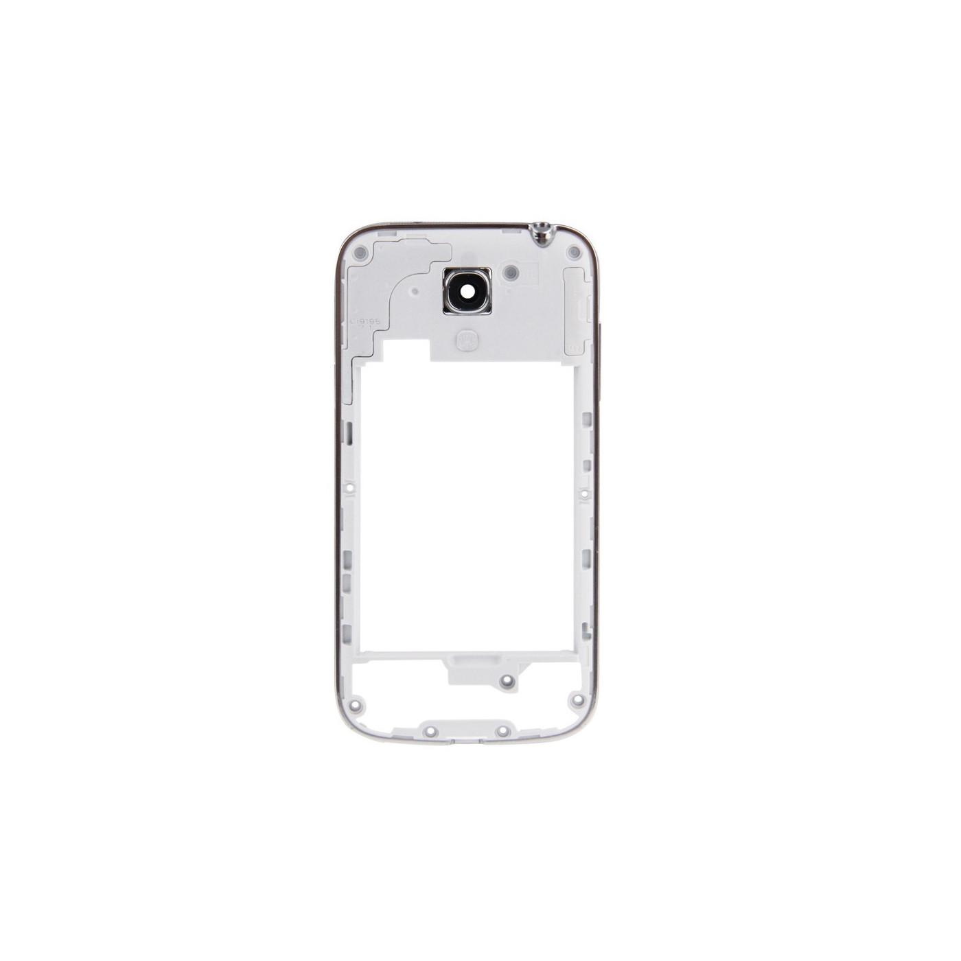 Cadre cadre cadre Samsung S4 mini i9195 / i9190 bordure argentée