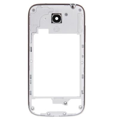 Frame Cornice Posteriore Telaio Per Samsung S4 Mini I9195 / I9190 Bordo Silver