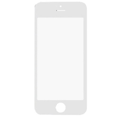 Slide the front glass front touch screen iphone 5 5s 5c White
