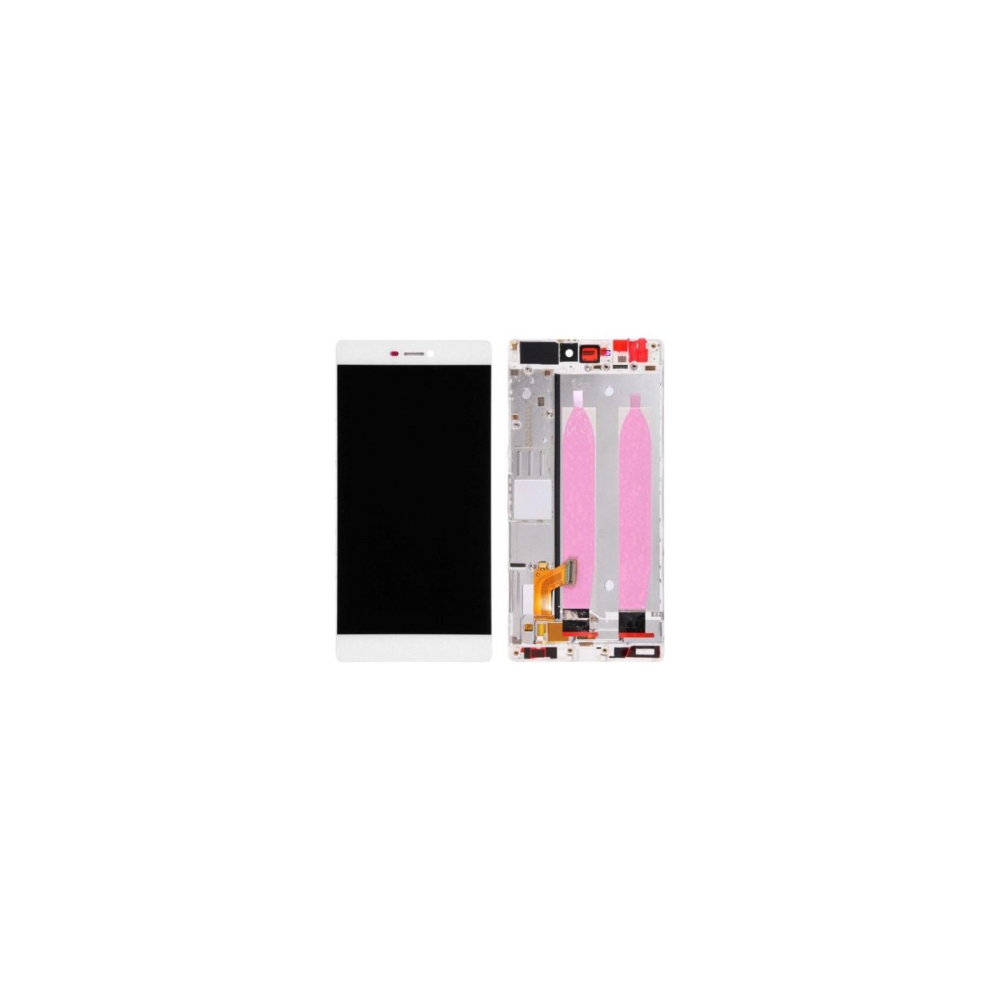 ECRAN TACTILE Huawei P8 5.2 VERRE BLANC + AFFICHAGE LCD + CADRE ASSEMBLE