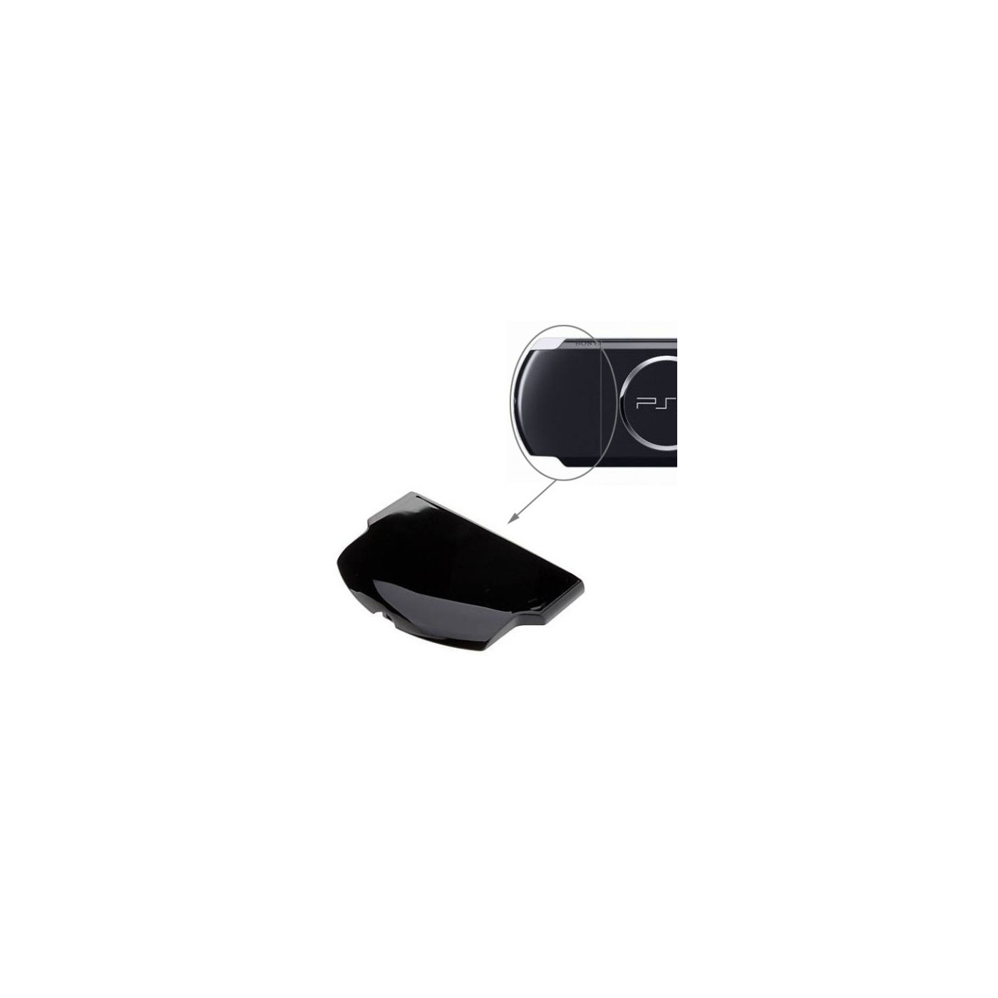BLACK BATTERY FACHABDECKUNG PSP 3000 3004 COVER COVER