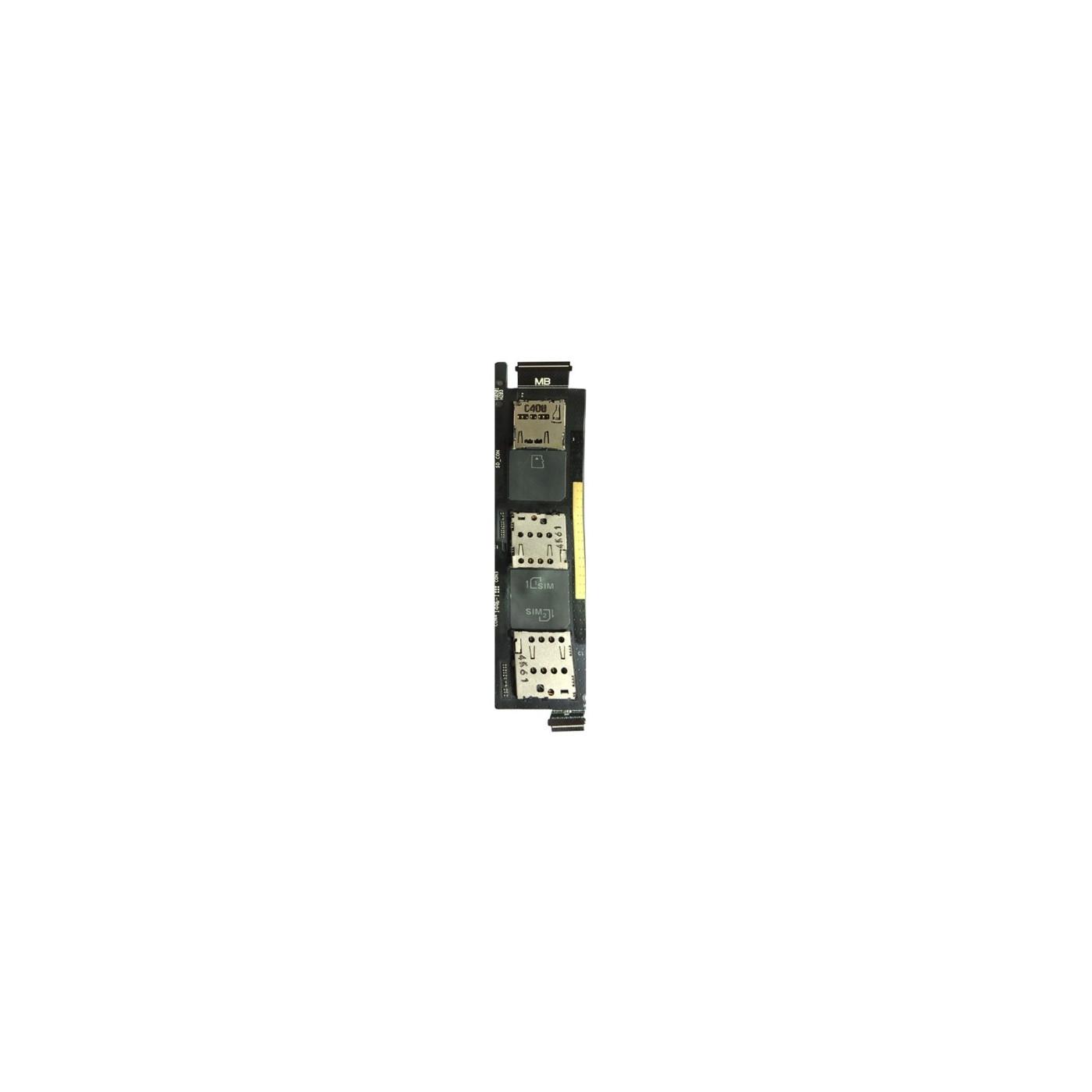 Lector de tarjeta sim plano Flex Asus Zenfone 6 Tarjeta SIM Lector tarjeta SD