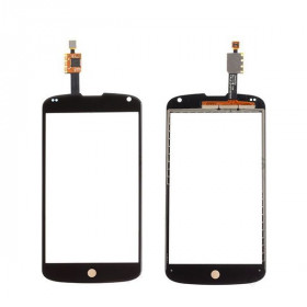 Glass + digitizer touch screen for LG Nexus 4 E960 no black glass LCD display