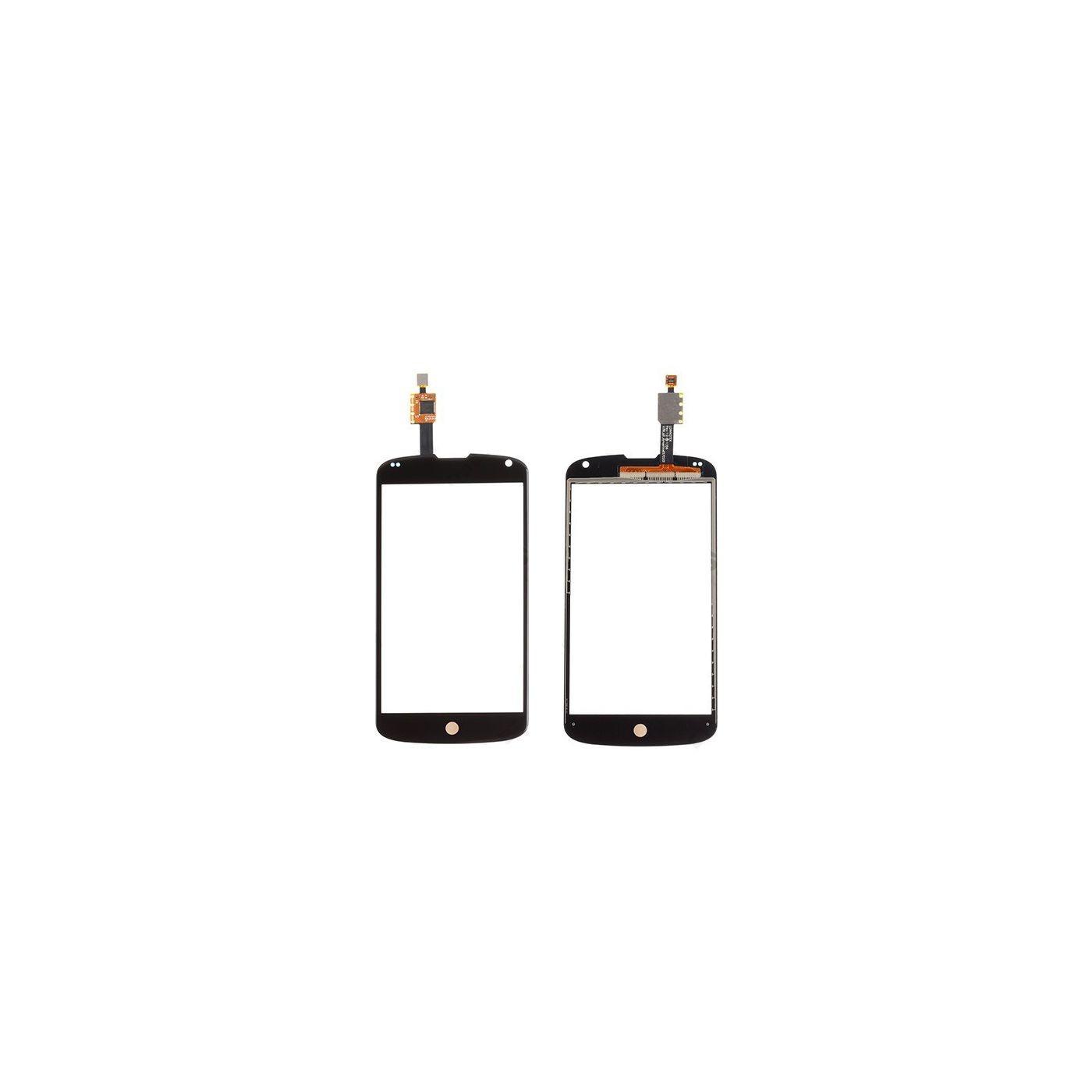 Cristal + pantalla táctil digitalizador para LG Nexus 4 e960 diapositiva de cristal negro sin pantalla lcd