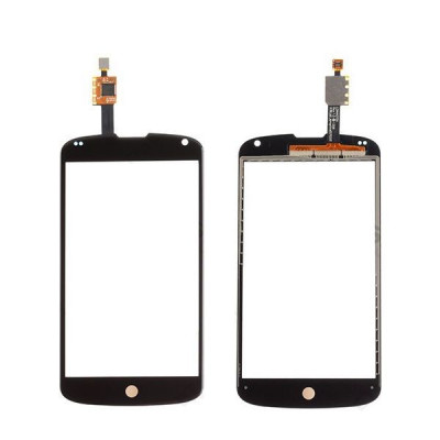 Vetro + digitizer touch screen per LG nexus 4 e960 nero vetrino no lcd display