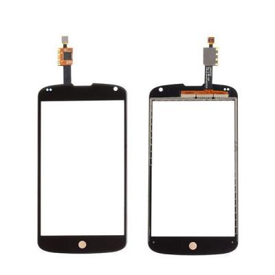 Vetro + Touch Screen Per Lg Nexus 4 E960 Nero Vetrino No Lcd Display