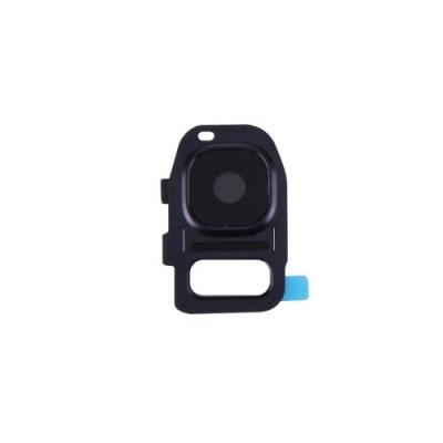 Lente Vetrino Fotocamera + Frame Cornice Nero Per Samsung Galaxy S7 G930F