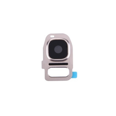 Lente Vetrino Fotocamera Gold + Frame Cornice Per Samsung Galaxy S7 G930F