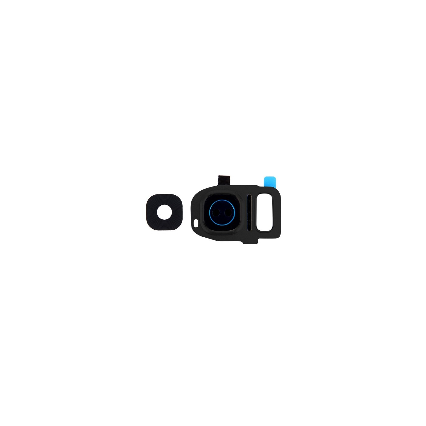 Lente vetrino fotocamera Camera Frame cornice Grey Samsung Galaxy S7 Edge G935F