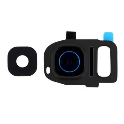 Lente Vetrino Fotocamera + Frame Cornice Grey Per Samsung Galaxy S7 Edge G935F