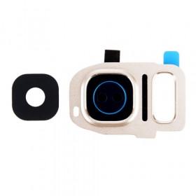 Camera Window Camera Lens Gold Frame corniceSamsung Galaxy S7 Edge G935F