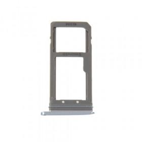 SIM card holder Micro SD card Dark Blue for Galaxy S7 Edge / G935F