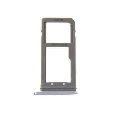 Porta Sim Scheda Micro Sd Dark Blue Per Galaxy S7 Edge / G935F