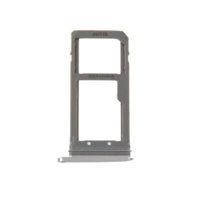 Porta Sim Scheda Micro Sd Silver Per Galaxy S7 Edge / G935F Ricambio