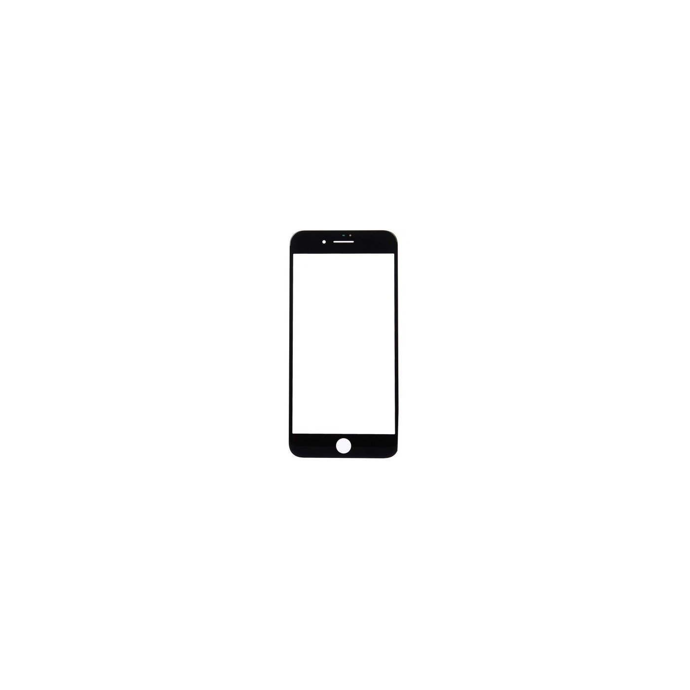 Glass front glass for apple iphone 7 PLUS black touch screen