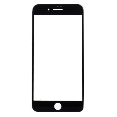 Vetro Vetrino Frontale Per Apple Iphone 7 Plus Nero Touch Screen