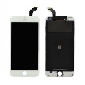 Touch screen display LCD per apple iphone 6 PLUS bianco frame vetro