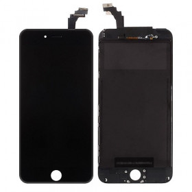 Pantalla táctil LCD para Apple iphone 6 PLUS marco de cristal negro + Kit