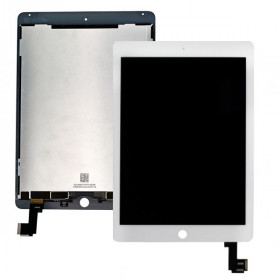 Display Lcd + Touch Screen per Apple Ipad Air 2 Bianco A1566 A1567 Ricambio