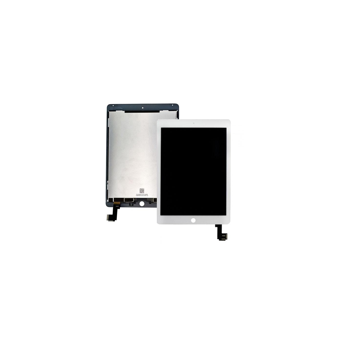 Display Lcd + Touch Screen per Apple Ipad Air 2 Bianco A1566 A1567 Ricambio