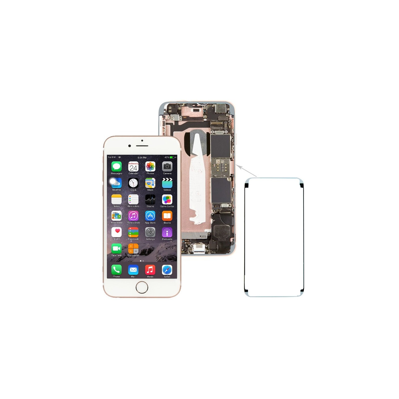 Double-sided adhesive waterproof LCD for iPhone 6S