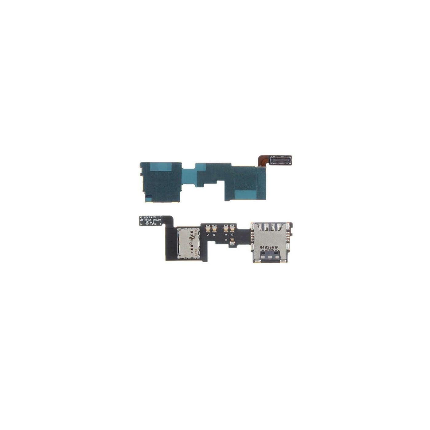 Lecteur de carte SIM et micro sd samsung galaxie note 4 N910F - NOTE IV flex plat