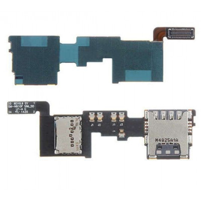 Sim card reader and micro sd samsung galaxy note 4 N910F - NOTES IV flat flex