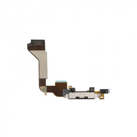 Connettore ricarica per apple iphone 4 nero flex flat porta di carica ricambio