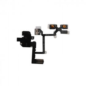 Jack buttons for audio headphones for apple iphone 4 black button flex flat cable
