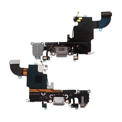 Conector De Carga + Micrófono Para Iphone 6S Gris