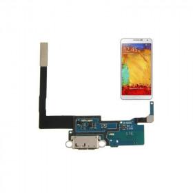 Conector de carga plana y flexible para Samsung Galaxy Note III N9005 Base de datos de carga USB