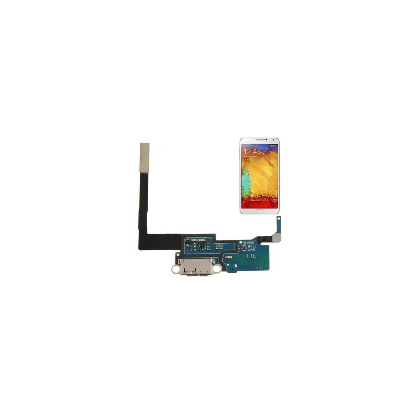 Connecteur de charge plat pour Samsung Galaxy Note III N9005 Station de chargement USB
